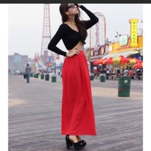New Banana Republic Long red maxi skirt